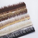 Neotrims Fake Faux Luxus Qualität Zwei Ton Fellbesatz auf Satin Ribbon Trim, für Kostüm, Handwerk, Hoods & Mäntel Einfassung. 5erdigen natürlichen Farben, seidiges Fell Haare, 7-8cms lang.