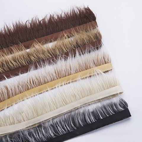 Neotrims Fake Faux Luxury Quality Two Tone Fur Trimming on