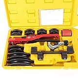 YIYIBY Manuelle Rohrbiegemaschine Biegewerkzeug Rohr, Mechanische Heavy Duty Biegeapparat Handbieger Rohrbiegewerkzeug 6-22mm für Rohrbiegung Rohre