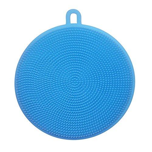 Blue Vessel Silikon Schüssel Schwamm Waschen Wäscher Küchereinigung Antibakteriell-Tools (Blau)
