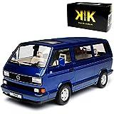 KK-Scale Volkwagen T3 Bus Multivan Blau Transporter 1979-1992 limitiert 1 von 1750 Stück 1/18 Modell Auto mit individiuellem Wunschkennzeichen