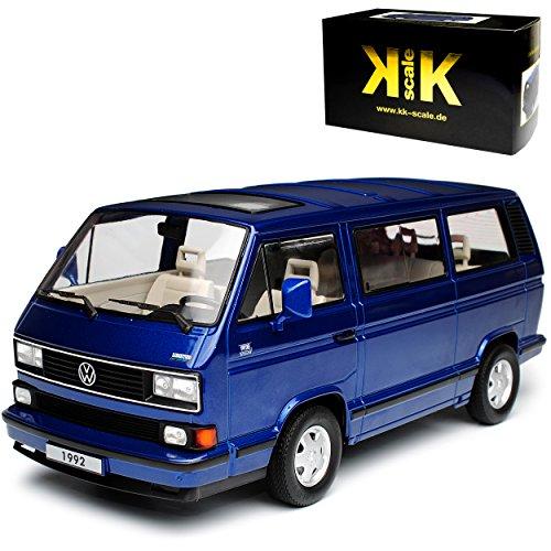 Produktbild VW Volkswagen T3 Bus Multivan Blau Transporter 1979-1992 limitiert 1 von 1750 Stück 1 / 18 KK-Scale Modell Auto