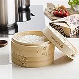 Reishunger Bambusdämpfer (Ø 20 cm), inkl. 2 Baumwolltücher, Für 2 Personen - 2