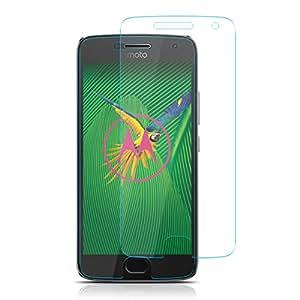 ELZO Pellicola Vetro Temperato Motorola Moto G5 Plus, [2-Pack] Pellicola Protettiva in Vetro Temperato Screen Protector Film, Durezza 9H, Spessore di 0.26mm Ultra Resistente per Motorola Moto G5 Plus