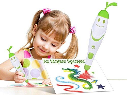 (Malerei-Handwerk für Kinder, 12pcs farbige Stifte mit elektrischer Luftmarkierungs-Sprüher-Spritzpistole-magische Stift-Hersteller, Kunst-Sätze für Mädchen, Kinderhandwerk Alter 3-10, Weihnachtsgeschenk für Kinderzeichnungs-Malerei-Spielwaren)