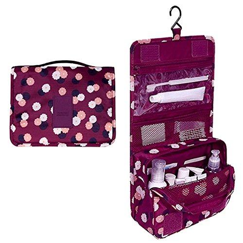 travel-bag-set-cosmetic-make-up-storage-bag-organizer-folding-bag-large-capacity-crimson