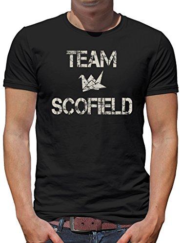 TLM Team Scofield T-Shirt Herren L Schwarz (Auto Fox Halloween Kostüm)