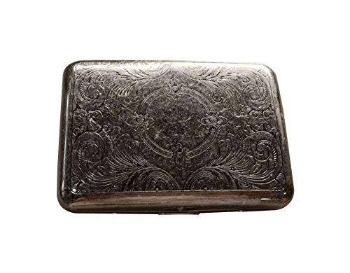 Preisvergleich Produktbild Exquisite Bronz Nobility Männer Bronze Zigarettenetui Cig-Halter-Kasten - Silber