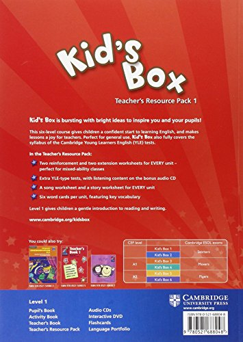 Kid's Box 1 Teacher's Resource Pack with Audio CD: Level 1 - 9780521688048