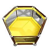 Baby Laufgitter Portable Playard für Mädchen, Home Outdoor Kleinkind Raumteiler Zaun, 6 Panel (Farbe : Style-2)