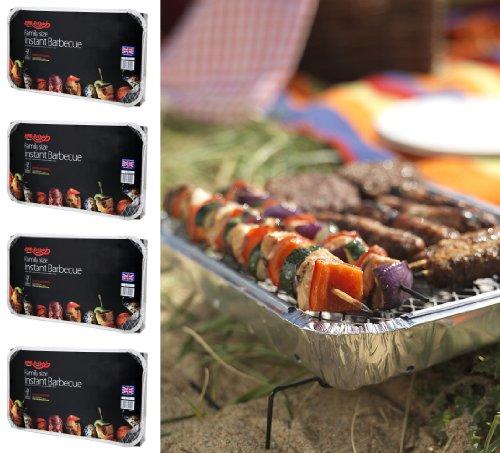 51e%2Bk6CkSiL - 4 X Größe der Familie Bar-Be-Quick-Quick Grill-Packs Jede Packung Feeds zu 10 Personen beste Weltmarktführer Einweg-Grill