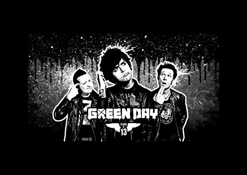 Green Day 1 Billie Joe Armstrong Mike Dirnt Tré Cool Jason weiß toller Rock-Metal Album Cover Design Musik Band beste Foto Bild Einzigartige Print A4 Poster