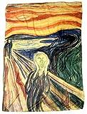 Art Collection Schal Tuch Accessoires #Edvard Munch - The Scream 130x100 cm