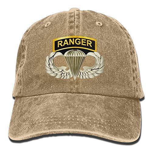 Airborne Tab (Nigmfgvnr 101st Airborne Ranger Tabs Mens & Womens Baseball Cap Retro Jean Snapback Hat)