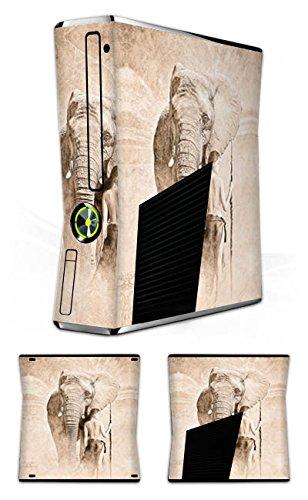 Microsoft Xbox 360 Slim Folie Skin Sticker aus Vinyl-Folie Aufkleber Elefant Frau Woman (Womens Slim-tier)