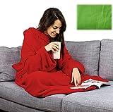XXL Blanket Fleecedecke Ärmeldecke Lounge-Decke Kuscheldecke mit Ärmeln (lime green)