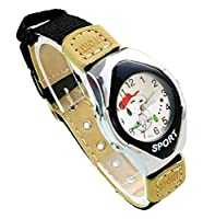 NEW Lovely Snoopy children kids cartoon Watches Textile Watch Band WP@KTW147494B