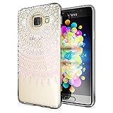 Samsung Galaxy A3 2017 Hülle Handyhülle von NALIA, Slim Silikon Motiv Case Cover Crystal Schutzhülle Dünn Durchsichtig Etui Handy-Tasche Backcover Transparent Phone Bumper, Designs:Mandala Pink