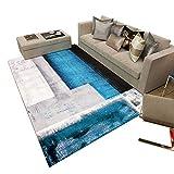 JIAJUAN Alfombra Antideslizante Respirable Suave Casa Interior Grande Almohadilla De Piso Lavable Moderno, 6mm, 5 Colores, 2 Tallas (Color : E, Tamaño : 140x200cm)