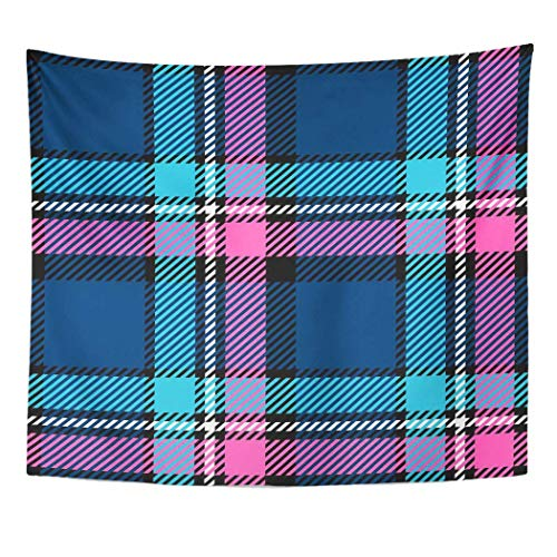gthytjhv Tapisserie Decor Collection, Tapestry Wall Hanging Art Nature Home Blue Black Plaid Pink Buffalo Casual Check for Living Room Bedroom Dorm Decor in 50 x 60 Inches -