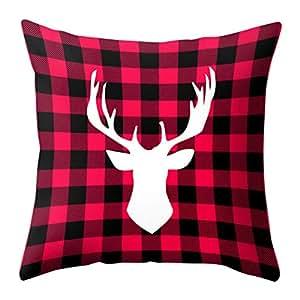 Bellelove Coton oreiller lombaire tissu taie d'oreiller linge taie d'oreiller de noël pas cher canapé voiture jet housse de coussin décor à la maison