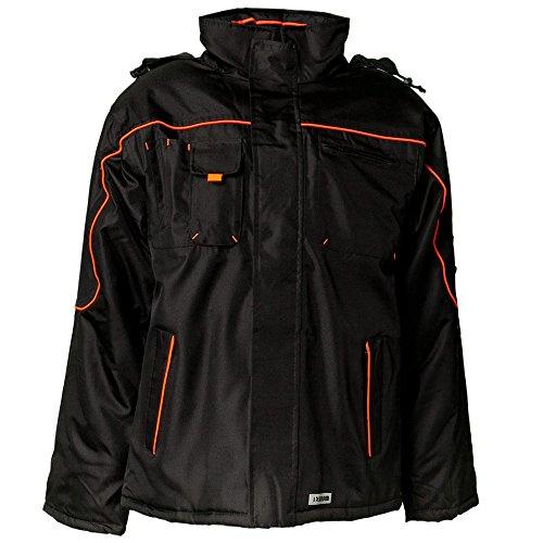 Planam Jacke Winter Piper, größe XXXL, schwarz / orange, 3535064