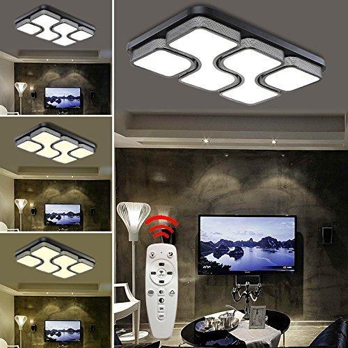 HG® 64W LED Deckenlampe Deckenleuchte Design Dimmbar wohnzimmer Beleuchtung Wandleuchte mit FB