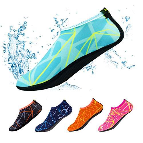 YIFEIKU Co.,Ltd. Tauchen Schwimmen Socken Barefoot Quick Dry-Schuhe, rutschfest, warm, für drinnen und draußen, Strand, Schwimmen, Surfen, Tauchen, für Erwachsene und Kinder Small blau