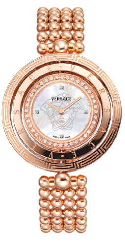 Versace Women's Eon Quartz Watch with Mother of Pearl Dial Analogue Display and Rose Gold Bracelet 80Q81SD497 S080