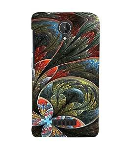 EPICCASE Flower artistc Cases Mobile Back Case Cover For Micromax Canvas Spark Q380 (Designer Case)