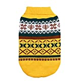 Tenchif Hundebekleidung Winter Pullover Strick Pullover Mantel