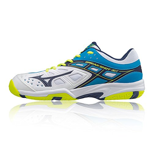 Mizuno Break Shot Ex AC, Chaussures de Running Homme Multicolore (Whiteblue)