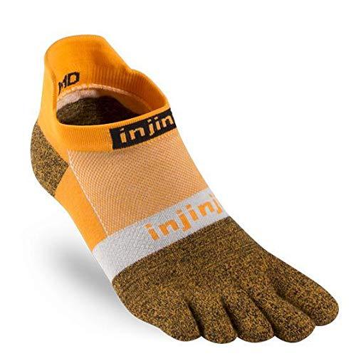 Injinji Socken Run 2.0 Lightweight unisex, Tangerine (S 37-40)