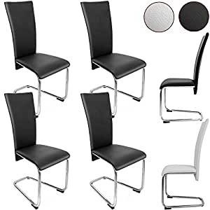 Dining Chairs Set Of 4 Black Or White Modern Luxury Elegant Home Furniture