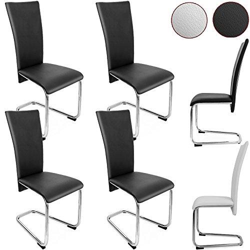 4er SET Freischwinger Esszimmerstuhl – Stühle Sitzgruppe Esszimmer Stuhl
