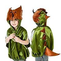 Lucy Locket Fantastic Green Kids DINOSAUR Costume Handmade Kids Fancy Dress Costume (3-8 years) - Slimy Toad