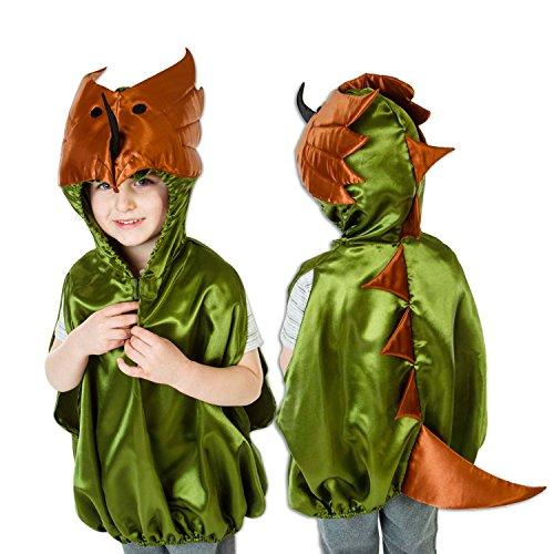 Dinosaurier Kostüm für Kinder 3-8 Jahre alt - Dino Karneval Kostüm Kinder - Slimy Toad (Dino 2 Kinder Kostüme)