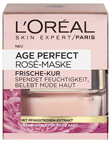 L'Oréal Paris Perfect Golden Age Rosé-Maske Frische Kur, 1er Pack (1 x 50 ml)