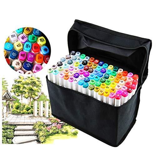Juego rotuladores profesionales 80 colores diferentes