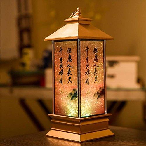 baby Q Schreibtischlampe, Chinesischer Stil Home Dekoration Nachttischlampe, Schlafzimmer Lampe , B