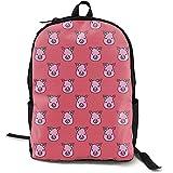 School Bag,Zaini Per Studenti Premium Con Simpatici Zaini Rosa Faccia Da Maiale Per Adulti Che Viaggiano In Arrampicata
