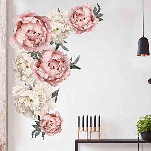 er Rose Flowers Wall Sticker Kreative DIY Wandtattoos Wandbilder Hauptdekorationen Kunst Nursery Decals Kids Room Home Decor (A(60 x 90cm)) ()