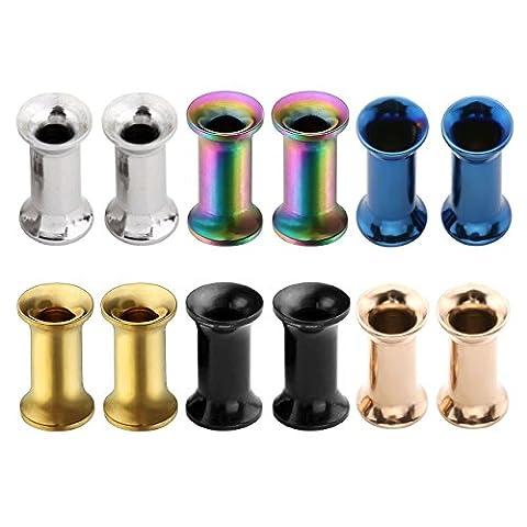 PiercingJ 6 pairs 8G-3/4