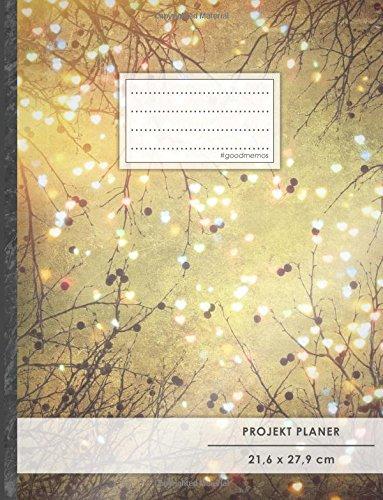 """Projektplaner: DIN A4 • 70+ Seiten, Soft Cover, Register, """"Herzen"""" • #GoodMemos • Linke Seite für Planung (To Do Listen, Datum uvm.); Rechte Seite für Notizen"""