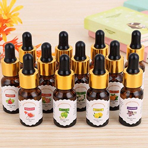 yiwa ätherisches Öl 10ml Obst Pflanze Wasser lösliche Öl für Duft Lampe Ofen Luftbefeuchter (Obst-öl)