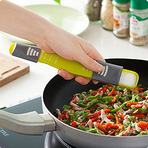 Bazaar Küche einstellbare Messlöffel mit Skala Backen Kochen Tools Backzubehör (Küchen-backen-skala)