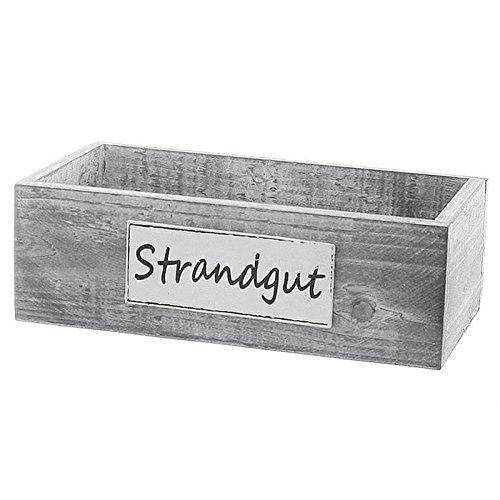 Holzbox Strandgut Größe: 10 cm H x 28 cn B x 15 cm T
