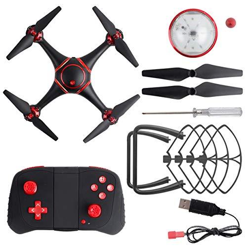 Comomingo S7 LED Nachtsicht RC Drohne ohne Kamera WiFi RC Quadcopter Hubschrauber Spielzeug (schwarz)