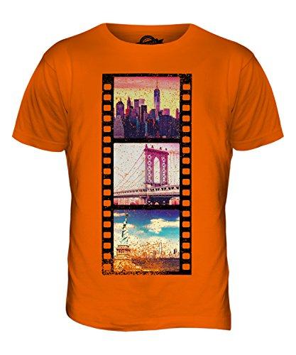 CandyMix Manhattan Fotografischer Film Herren T Shirt Orange