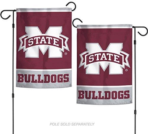 NCAA Mississippi State Bulldogs 31,8x 45,7cm Zoll beidseitigen Garten Flagge Logo Mississippi State Player